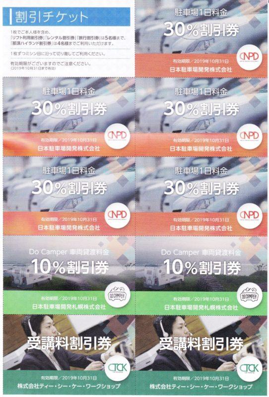 日本駐車場開発の株主優待である駐車場割引券